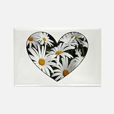 Daisy Heart Rectangle Magnet