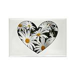 Daisy Heart Rectangle Magnet (100 pack)