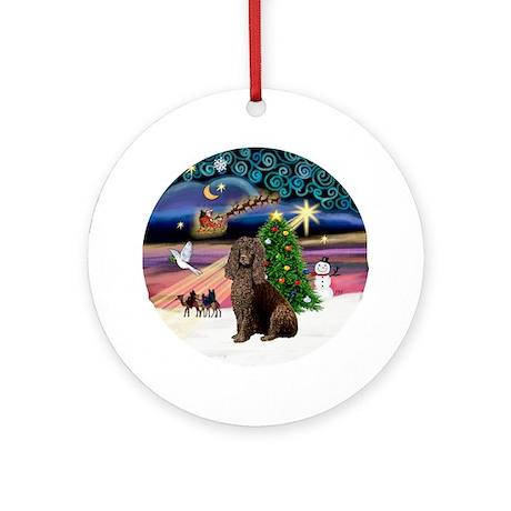 Xmas Magic & Irish Water Spaniel Ornament (Round)