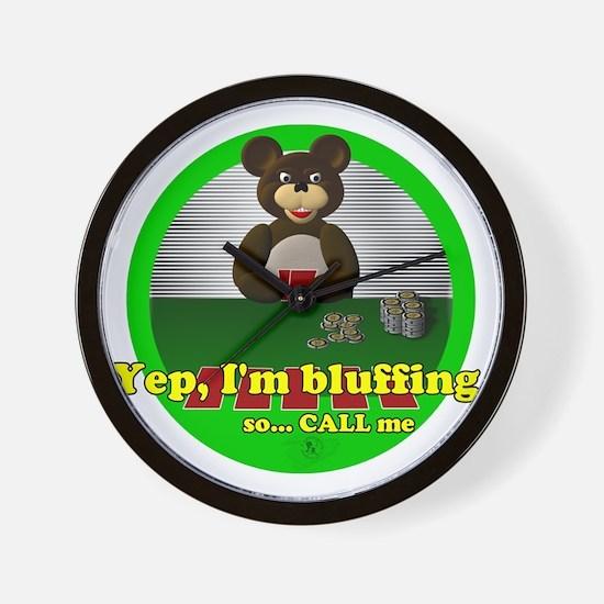 Bluffing Bear Wall Clock