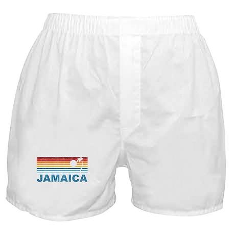 Retro Jamaica Palm Tree Boxer Shorts