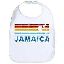 Retro Jamaica Palm Tree Bib