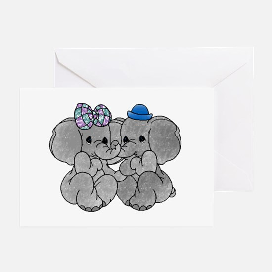Elephants in Love Greeting Cards (Pk of 10)