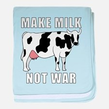 Make Milk Not War baby blanket