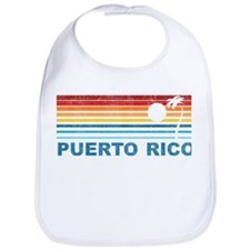 Retro Puerto Rico Palm Tree Bib
