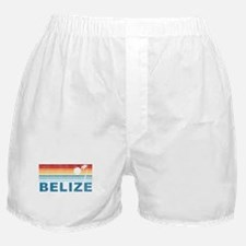 Retro Belize Palm Tree Boxer Shorts