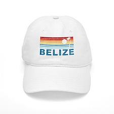 Retro Belize Palm Tree Baseball Cap