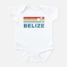 Retro Belize Palm Tree Infant Bodysuit