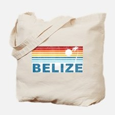 Retro Belize Palm Tree Tote Bag