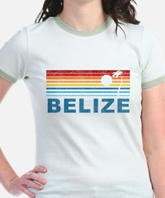 Retro Belize Palm Tree T