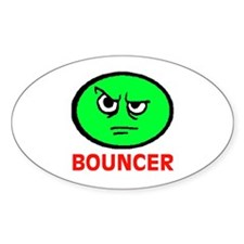 BOUNCER Oval Decal