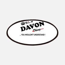 DAVON thing, you wouldn't understand Patch