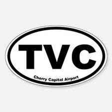Cherry Capital Airport Oval Decal