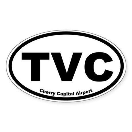 Cherry Capital Airport Oval Sticker