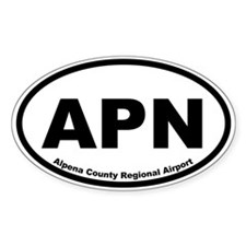 Alpena County Regional Airport Oval Decal