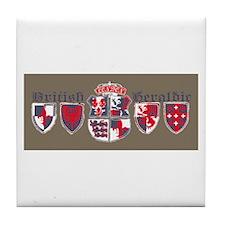 British shield Tile Coaster