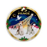 Fox terrier Round Ornaments