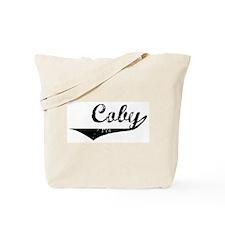 Coby Vintage (Black) Tote Bag