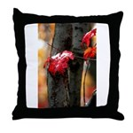 Red Leaf Throw Pillow