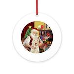 Santa's Spinone Ornament (Round)