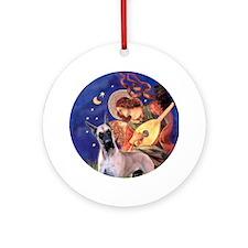 Angel (#3) & G Dane (fawn) Ornament (Round)
