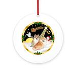 NightFlight/2 Pomeranians Ornament (Round)