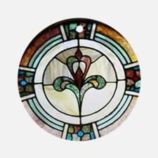 Stained Glass Window Medallion Ornament (Round)