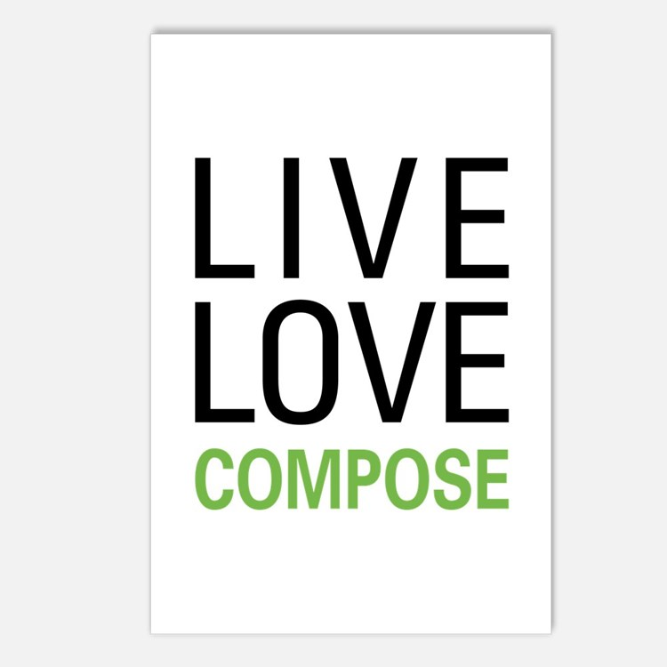 Live Love Compose Postcards (Package of 8)