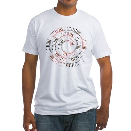 Spiral Playing Card Fan Fitted T-Shirt