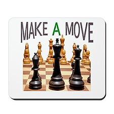 MAKE A MOVE CHESS 1 Mousepad