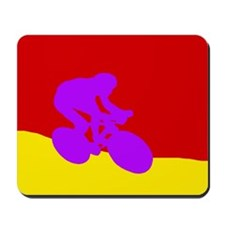 PURPLE CYCLIST Mousepad