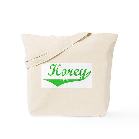 Korey Vintage (Green) Tote Bag