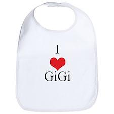I Love (Heart) GiGi Baby Bib