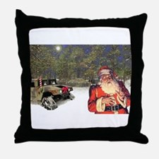 Military Silent Night Throw Pillow