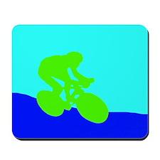 LIME GREEN CYCLIST Mousepad