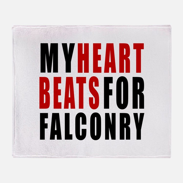 My Hear Beats For Falconry Throw Blanket