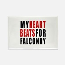 My Hear Beats For Falconry Rectangle Magnet