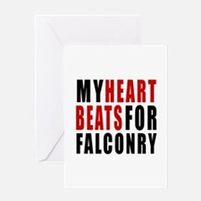 My Hear Beats For Falconry Greeting Card
