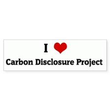 I Love Carbon Disclosure Proj Bumper Bumper Sticker