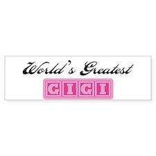 World's Greatest GiGi Bumper Bumper Sticker