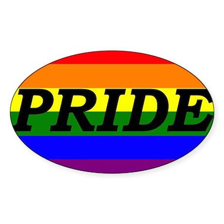 Rainbow Pride Oval Sticker
