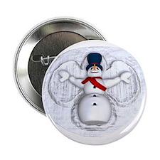 "Snowman Snow Angel 2.25"" Button"