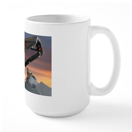 Stealth Pilot Santa Large Mug