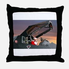 Stealth Pilot Santa Throw Pillow