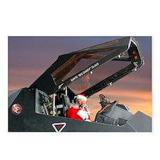 Stealth Pilot Santa Postcards (Package of 8)