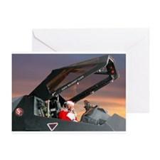 Stealth Pilot Santa Greeting Cards (Pk of 10)