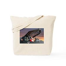 Stealth Pilot Santa Tote Bag