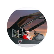 "Stealth Pilot Santa 3.5"" Button (100 pack)"