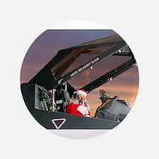 "Stealth Pilot Santa 3.5"" Button (100 pack)"