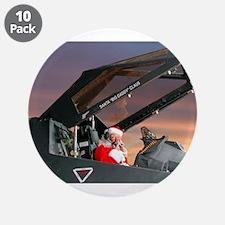 "Stealth Pilot Santa 3.5"" Button (10 pack)"